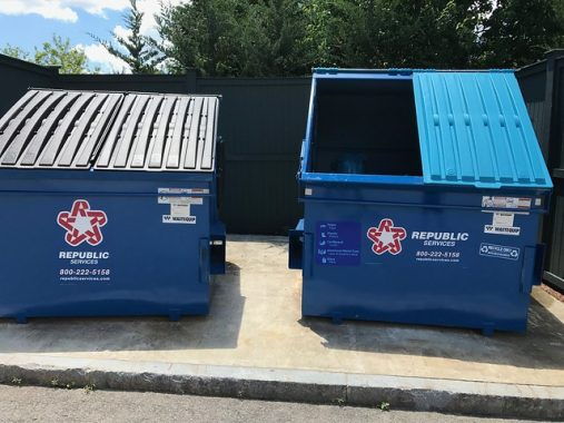 recycling and trash dumpsters
