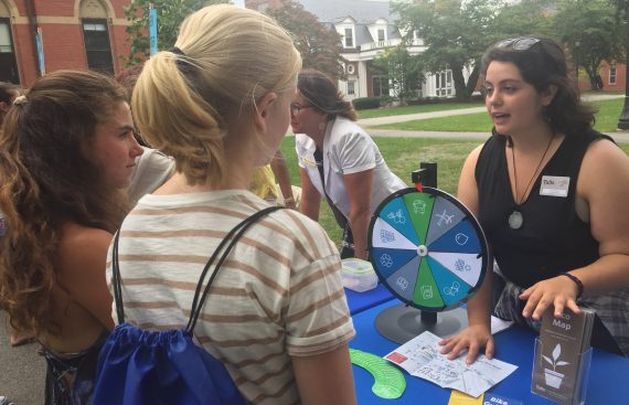 OOS intern at 2017 undergraduate orientation