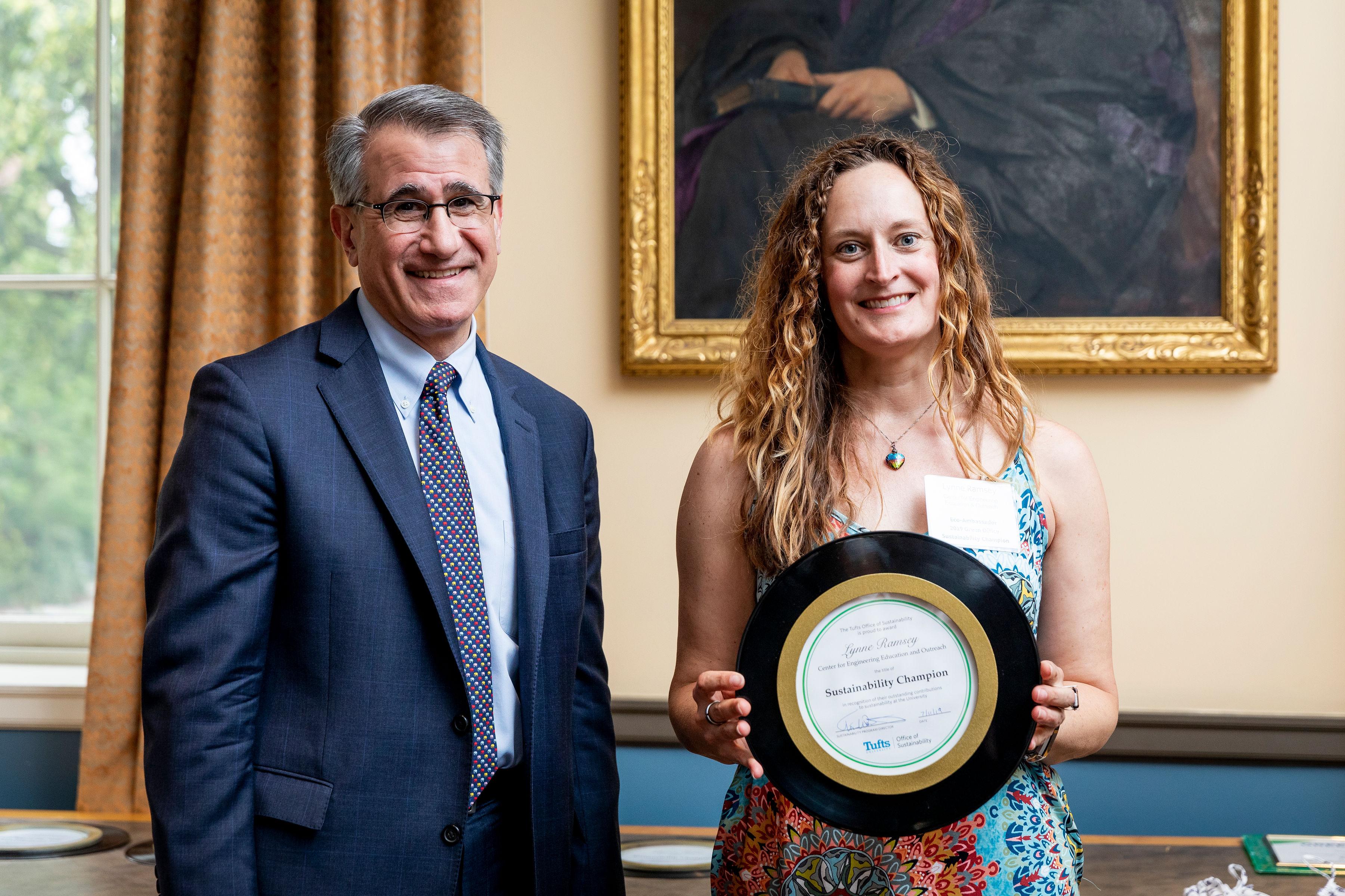 Tony Monaco awarding sustainability champion award