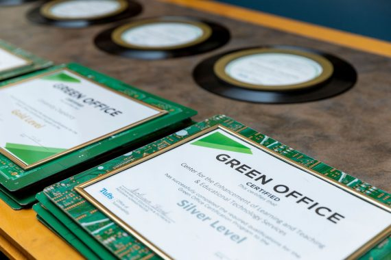 Green office plaques
