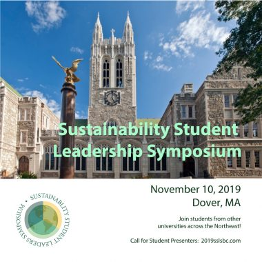 Poster for Sustainability Student Leadership Symposium 2019