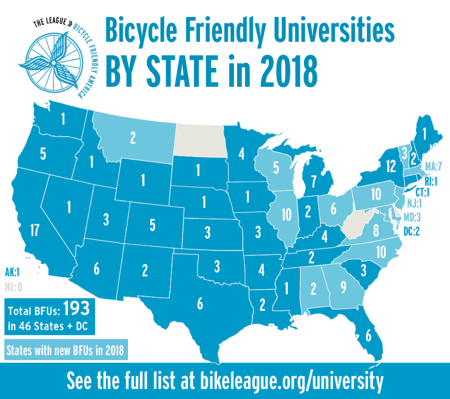 Tufts Earns Bronze Bike Friendly University Designation