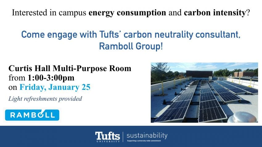 Upcoming Tufts Carbon Neutrality Event
