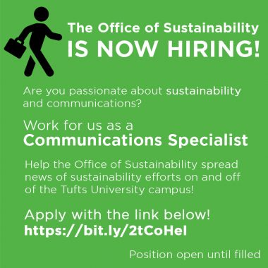 description for communications specialist job for the office of sustainability