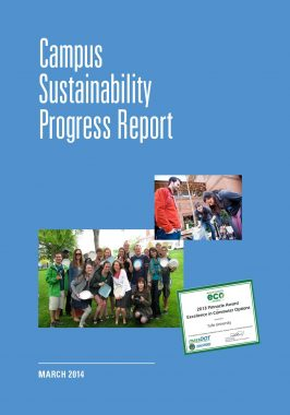 Cover of the FY 2013 Campus Sustainability Progress Report