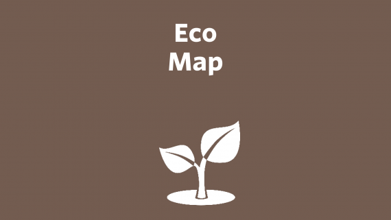 Cover page of Eco Map with image of a sprout