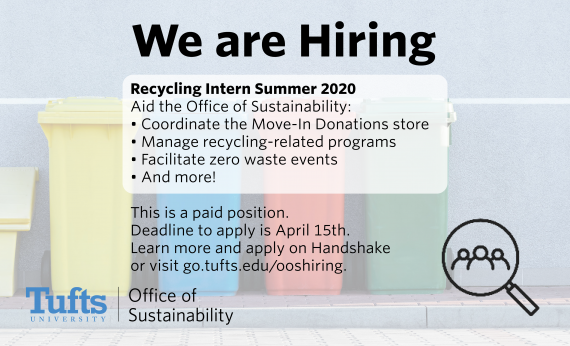 We are Hiring: Summer Recycling Intern