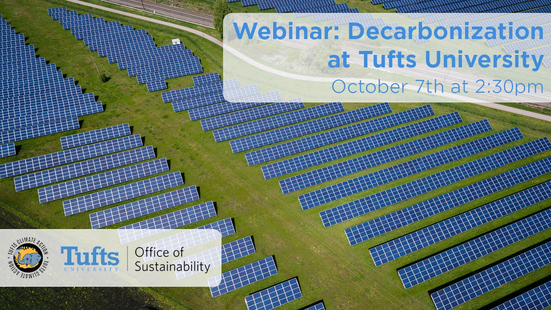 [WEBINAR] Decarbonization at Tufts