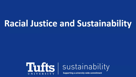 Racial Justice and Sustainability title card for the Office of Sustainability's Juneteenth event on this topic.
