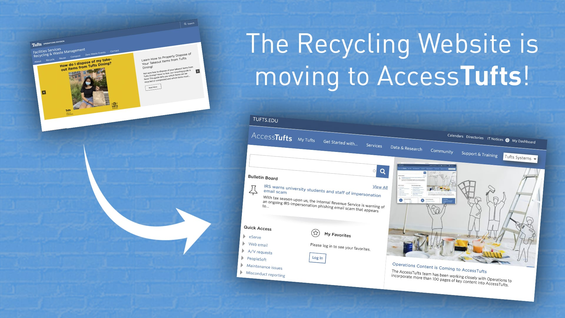 The Recycling Website is moving to AccessTufts!