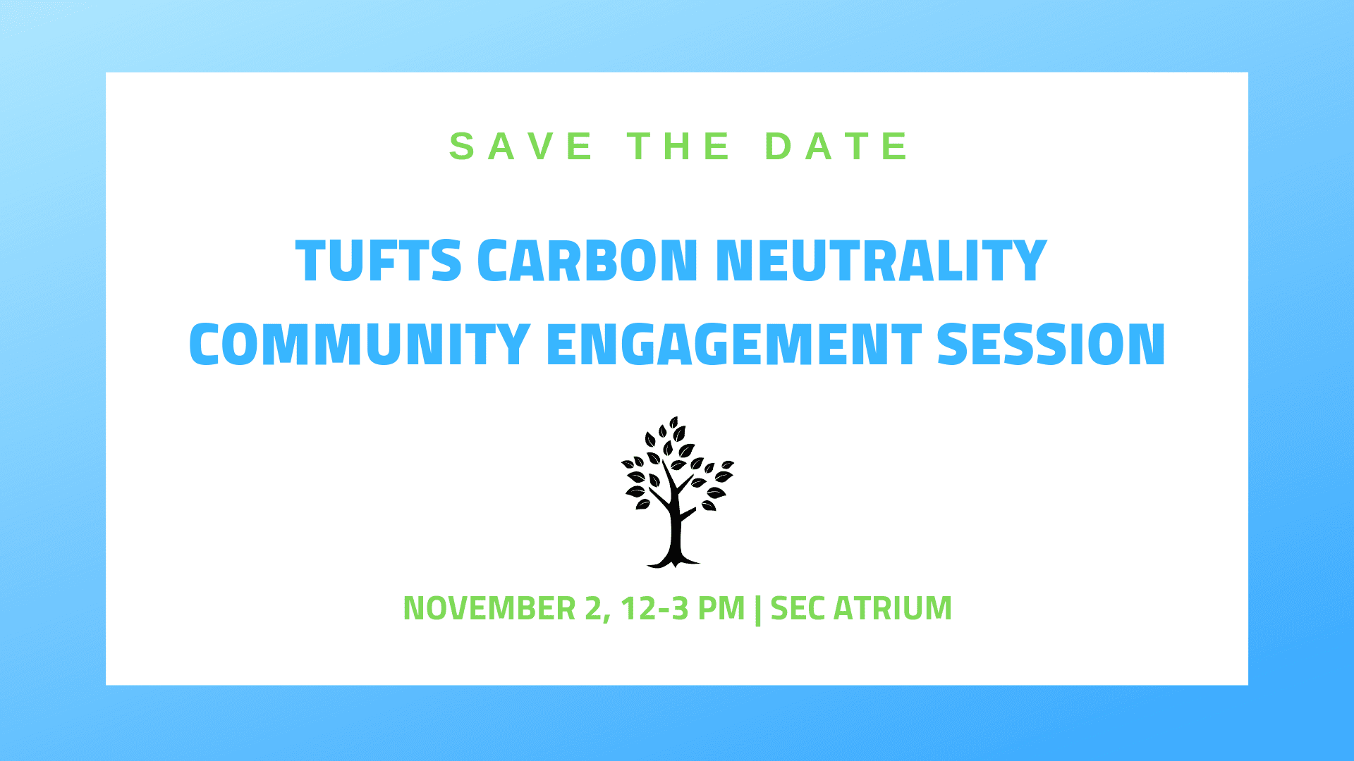 Tufts Carbon Neutrality Community Engagement Session