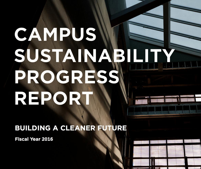 Campus Sustainability Progress Report