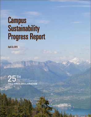 Cover of the Fiscal Year 2014 Campus Sustainability Progress Report