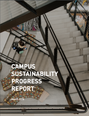 Cover of the Fiscal Year 2015 Campus Sustainability Progress Report