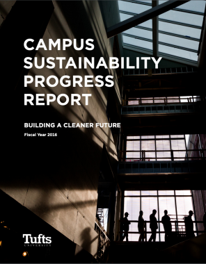 Cover of the Fiscal Year 2016 Campus Sustainability Progress Report