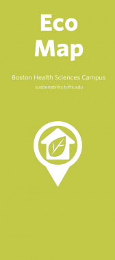 Boston Health Sciences Eco-Map cover, green background with a house in a location bubble in the foreground