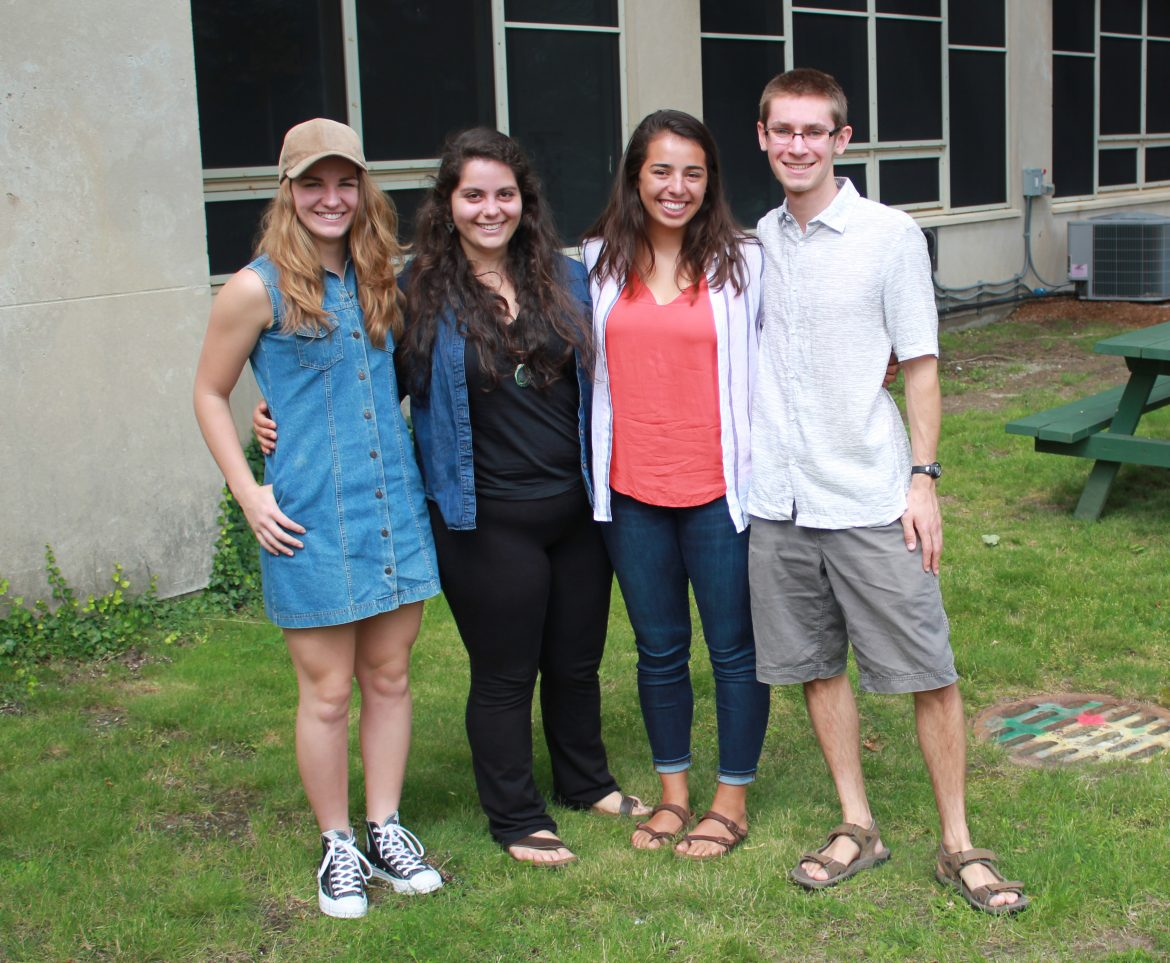 Summer interns at the Office of Sustainability