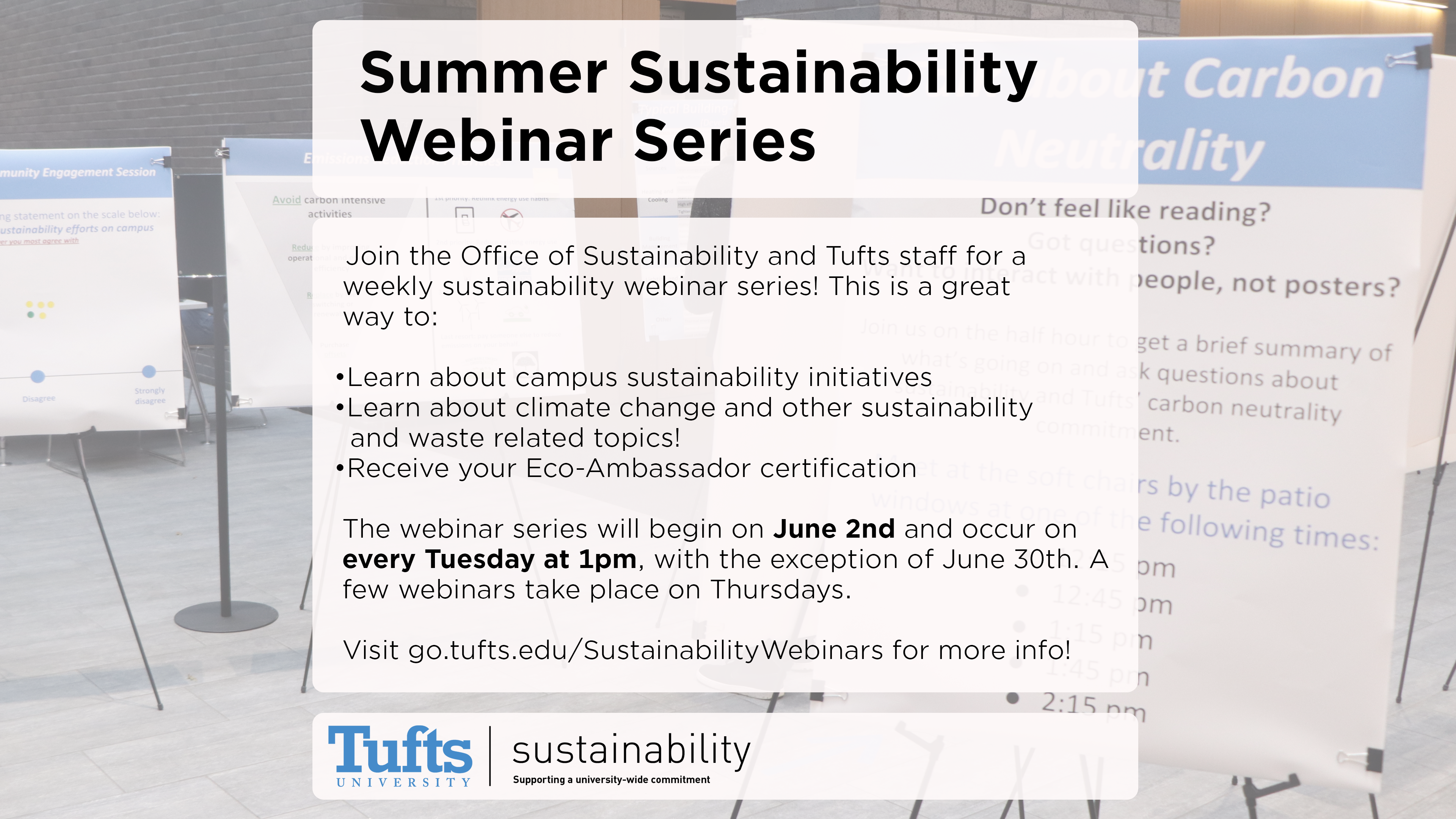Summer Sustainability Webinar Series Graphic