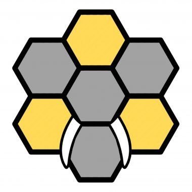 Tessellating hexagons that resemble a honeycomb