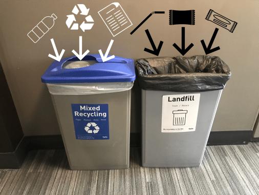 Waste Station Landfill Bin Black Bag