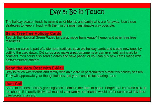 day 5 tip holiday cards