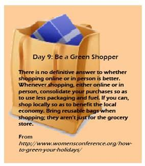 day 9 tip green shopping