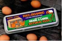 Free Roaming eggs label