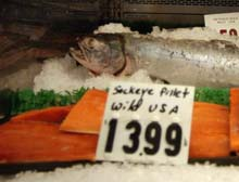 Wild Caught salmon label