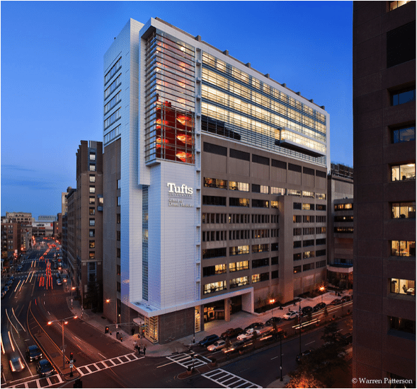 Tufts University School Of Dental Medicine - Tufts University School of Dental Medicine - Office of Sustainability - In April 2008, Tufts University School of Dental Medicine embarked on a major   vertical expansion project to add five floors and 95,000 square feet to the existing   ...
